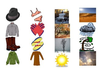 Weather and Clothing Connect 4 game