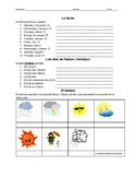 Weather and Date Spanish practice worksheet