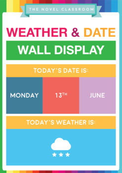 Weather and Dates Wall Display