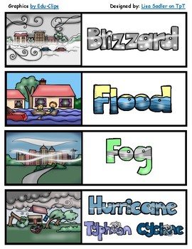 Weather and Extreme Weather Themed Bookmarks