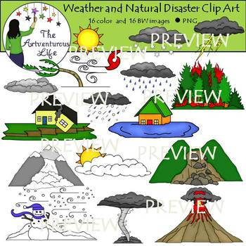 Weather and Natural Disasters Clip Art