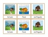 Weather and Natural Disasters Montessori Three Part Vocabu