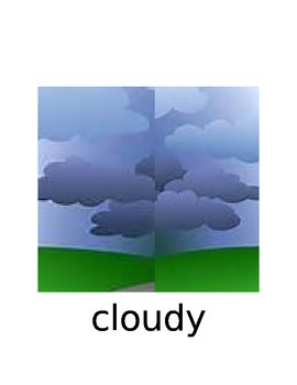 Weather and Patterns in Nature Word Wall Cards