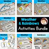 Weather and Rainbow Activities for Preschool, PreK, Autism