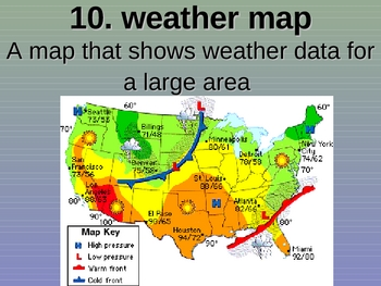 Weather and Safety Vocabulary Powerpoint