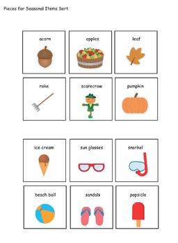 Weather and Season File Folder Activities for Preschool and Kindergarten