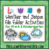 Weather and Season File Folder Activities for Preschool an