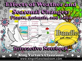 Effects of Weather and Seasonal Changes Interactive Notebook BUNDLE