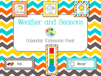 Weather and Seasons Calendar in Candy Colors Theme