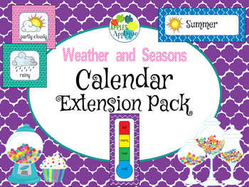 Weather and Seasons Calendar in Candy Shop Theme