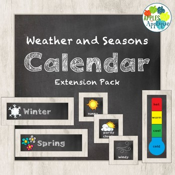 Weather and Seasons Calendar in Chalkboard Theme