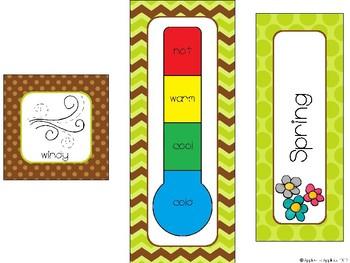 Weather and Seasons Calendar in Monkey Theme