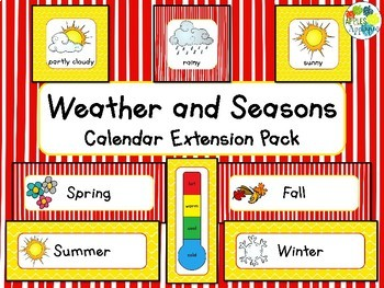 Weather and Seasons Calendar in Popcorn Theme