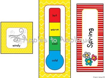 Weather and Seasons Calendar in Popcorn Theme