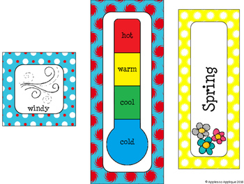Weather and Seasons Calendar in Primary Colors Theme