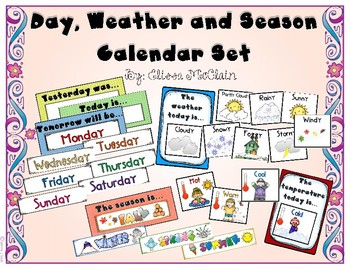 Weather and Seasons Card Set