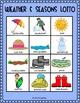 Weather and Seasons Lotto: Vocabulary, Matching