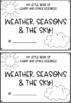 Weather and Seasons Mini Book and Worksheer