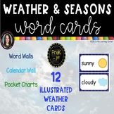 Weather and Seasons Vocabulary Word Wall Cards