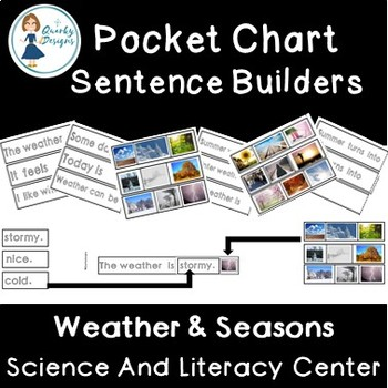 Weather and Seasons: Pocket Chart Sentences {Science & Literacy}