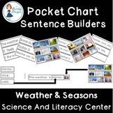 Weather and Seasons: Sentence Builders Pocket Chart Set
