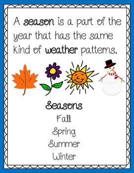 Weather and Seasons Presentation