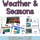 Weather and Seasons Science Unit For Special Ed (Leveled Science Instruction)