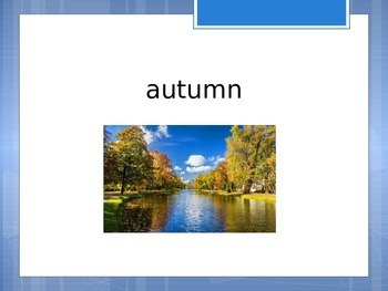 Weather and Seasons Vocabulary Warm-up