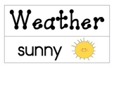 Weather and Seasons Word Wall and/or Flash Cards