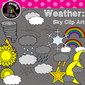 Weather and Sky Clip Art in Color and B&W