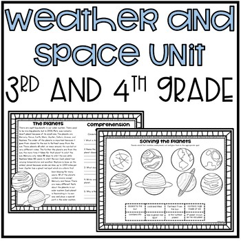 Weather and Space Unit (Science-3rd and 4th Grade)