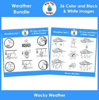 Weather and Temperature Clip Art Bundle
