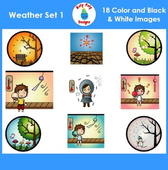 Weather and Temperature Clip Art Set 1
