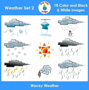 Weather and Temperature Clip Art Set 2