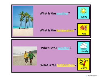 Weather and Temperature Questions for Autism