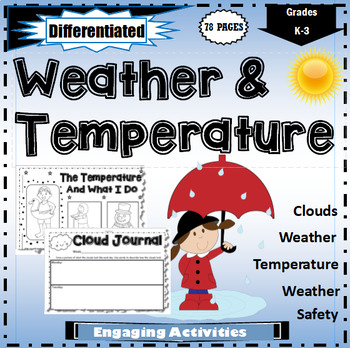 Weather and Temperature Worksheets by Worksheet Place | TpT