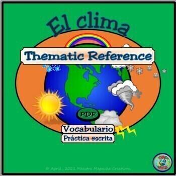 Weather and Topography Vocabulary / Vocabulario del clima y de la topografía