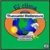 Weather and Topography Vocabulary - Vocabulario del clima y de la topografía