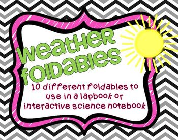 Weather and Water Cycle Foldables