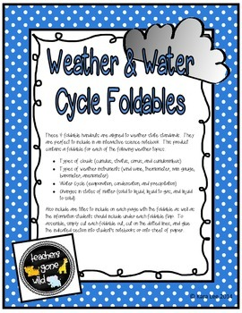 Weather and Water Cycle - Four Foldables