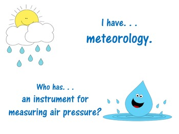 Weather and Water Cycle I Have Who Has