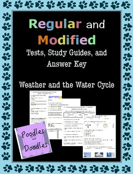 Weather and Water Cycle Regular and MODIFIED Assessments