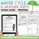 Weather and Water Cycle Activities, Units, Posters, Bundle