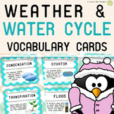 Weather and Water Cycle Word Wall Vocabulary Cards