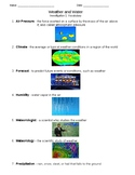 Weather and Water Investigation One: Vocabulary