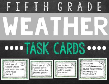 Weather and Water Task Cards