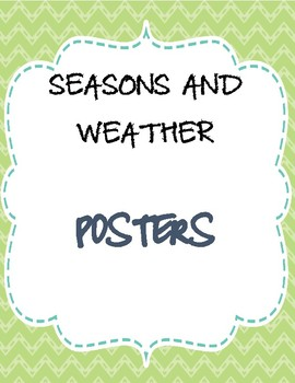 Weather and seasons poster/flashcards