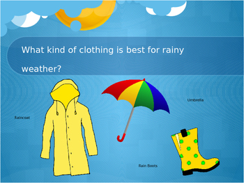 Weather and the Appropriate Clothing