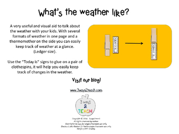 Weather at a Glance - Poster