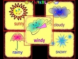 Weather - Weather cards - Clip Art - Back to school